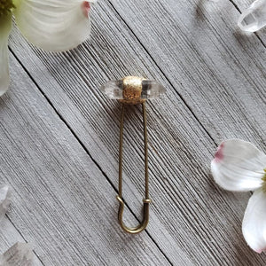 Quartz point Shawl Pin - small - Shop Dreamers of Dreams