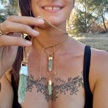 Load image into Gallery viewer, Raw Green Kyanite Blade Necklaces - Shop Dreamers of Dreams