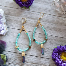 Load image into Gallery viewer, Aura Quartz Earrings - Shop Dreamers of Dreams