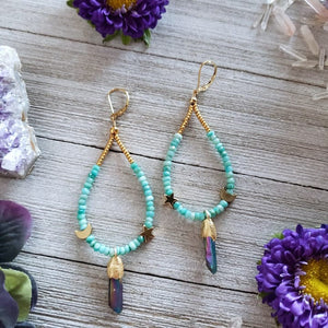 Aura Quartz Earrings - Shop Dreamers of Dreams