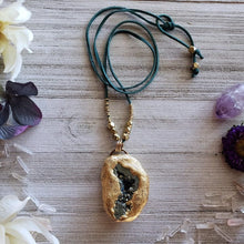 Load image into Gallery viewer, Aura Quartz Druzy Geode Necklace - Shop Dreamers of Dreams