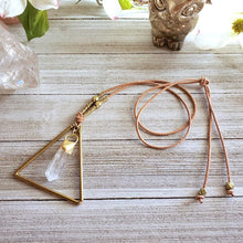 Load image into Gallery viewer, Quartz Point Brass Necklace - Shop Dreamers of Dreams