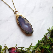 Load image into Gallery viewer, Lavender Agate Slice Necklaces - Shop Dreamers of Dreams