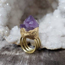 Load image into Gallery viewer, Amethyst Rosette Ring - Shop Dreamers of Dreams
