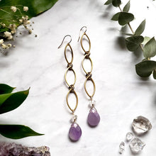 Load image into Gallery viewer, Amethyst Drop Earrings - Shop Dreamers of Dreams