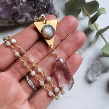 Load image into Gallery viewer, Amethyst and Moonstone Goddess Necklace - Shop Dreamers of Dreams