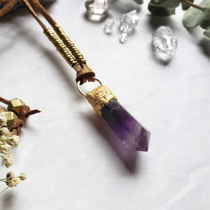 Amethyst Point Necklace - Shop Dreamers of Dreams
