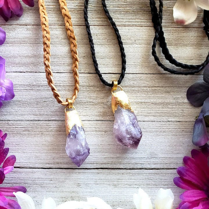 Amethyst Soothing Point Necklace - Shop Dreamers of Dreams