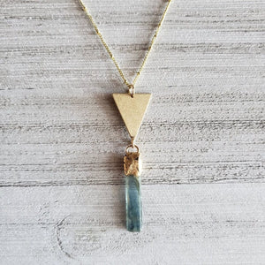 Blue Kyanite Water Goddess Necklace - Shop Dreamers of Dreams