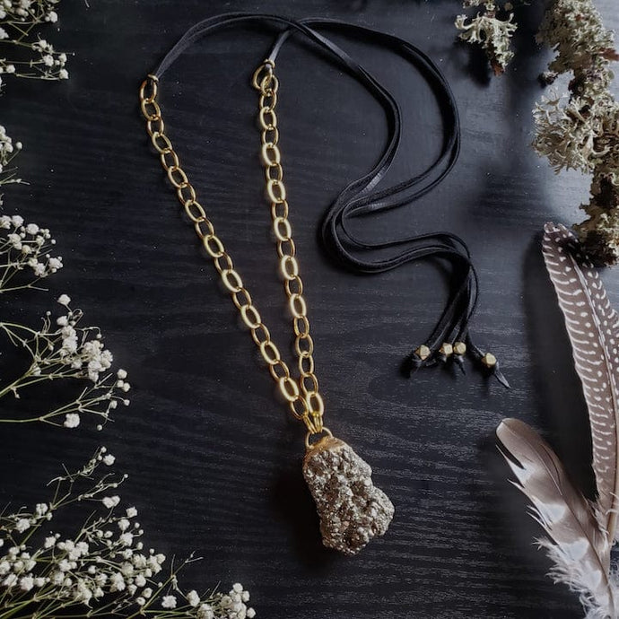 Pyrite Prosperity Necklace - Shop Dreamers of Dreams