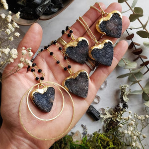 True Love Druzy Heart Necklaces - Shop Dreamers of Dreams