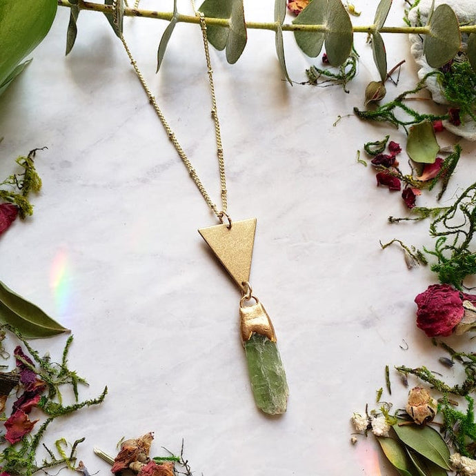 Green Kyanite Divinity Necklace - Shop Dreamers of Dreams