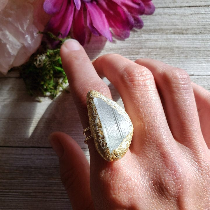 Large Kunzite Ring - Shop Dreamers of Dreams