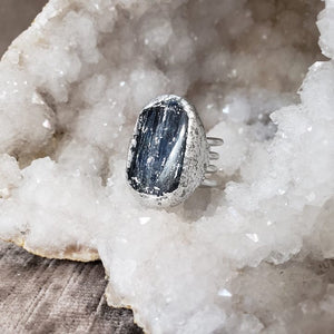 Kyanite Stone Priestess Ring - Shop Dreamers of Dreams