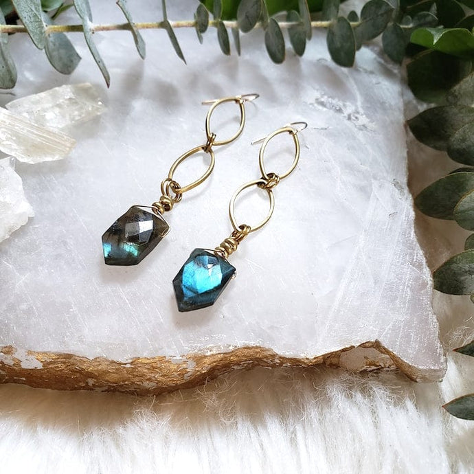 Labradorite Drop Earrings - Shop Dreamers of Dreams