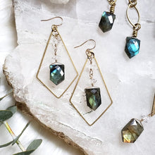 Load image into Gallery viewer, Labradorite and Herkimer Earrings - Shop Dreamers of Dreams