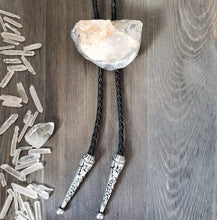 Load image into Gallery viewer, Gold Dust Quartz Bolo Tie on Black Leather - Shop Dreamers of Dreams