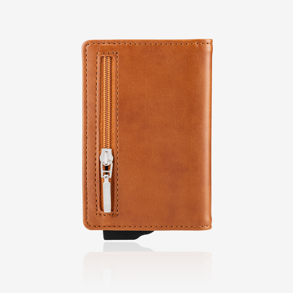 Zipper Premium Wallet Cardholder - Brown