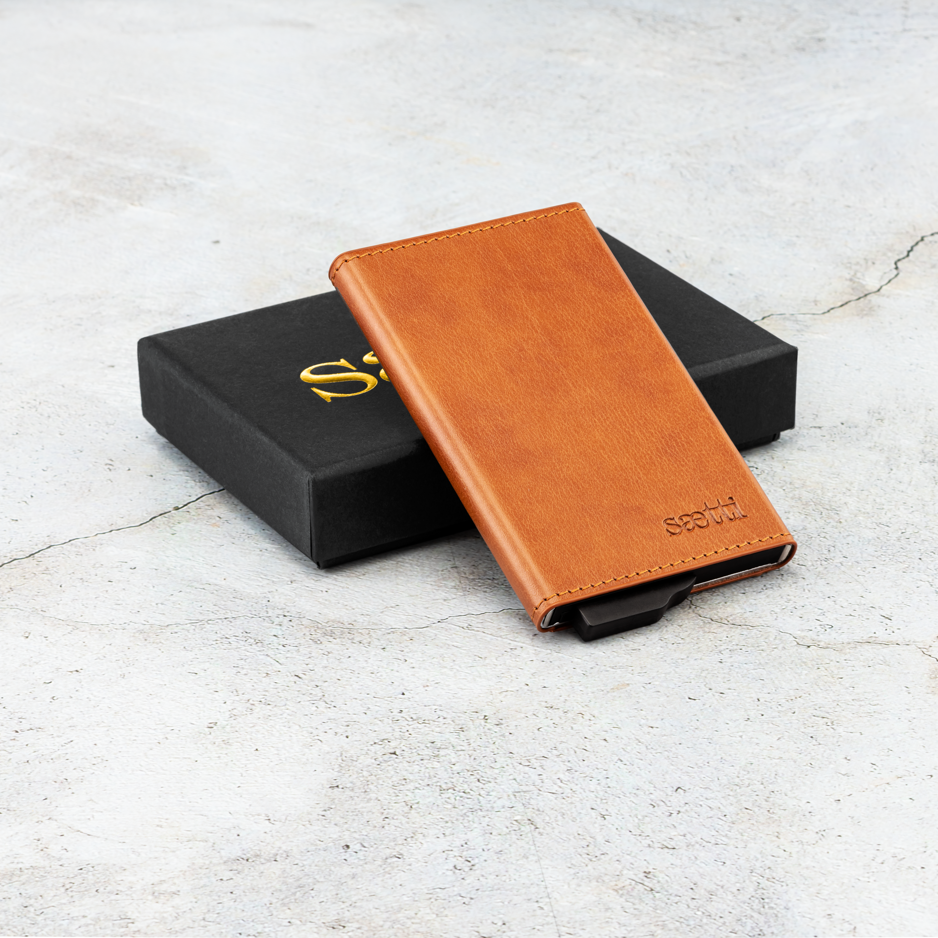 Slim Premium Wallet Cardholder - Brown - SAETTI
