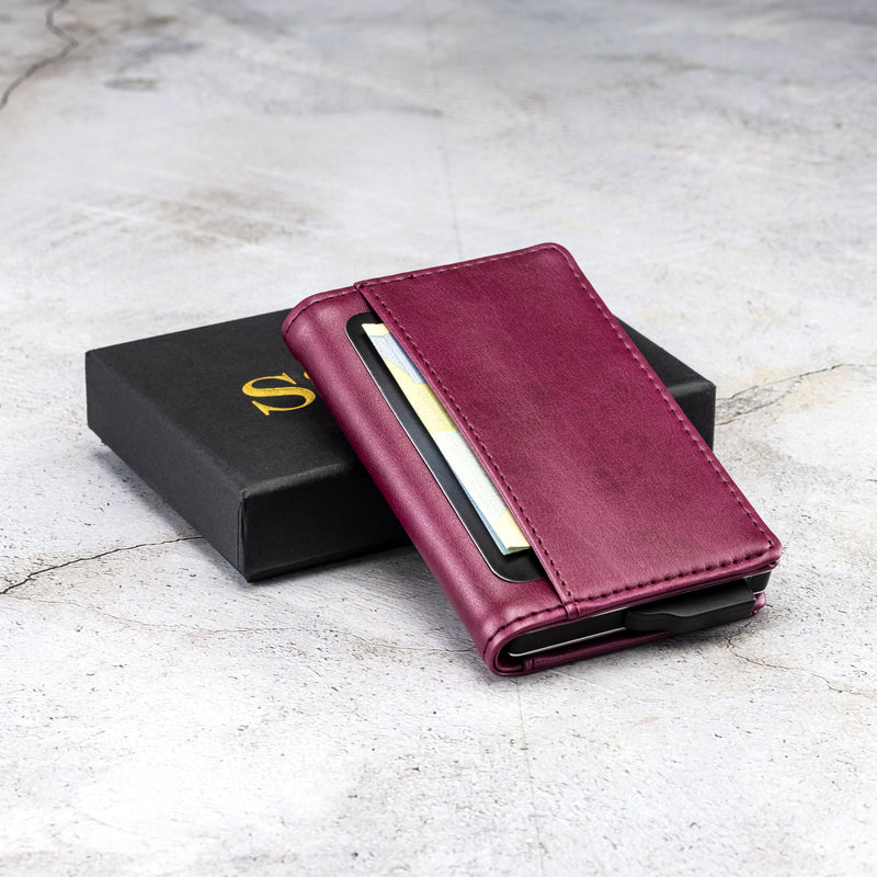 Burgundy Red - Premium Wallet Cardholder