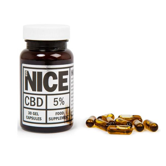 Mr Nice 5% 500mg CBD Gel Capsules
