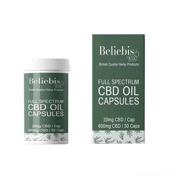 Beliebis 600mg CBD Oil Capsules - 30 Caps
