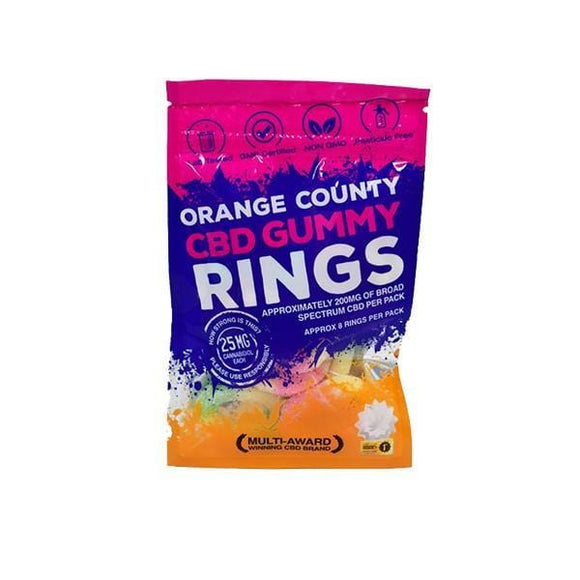 Orange County CBD 10mg Gummy Rings - Grab Bag