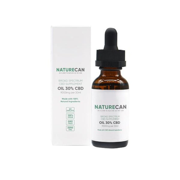 Naturecan 30% 9000mg CBD Broad Spectrum MCT Oil 30ml