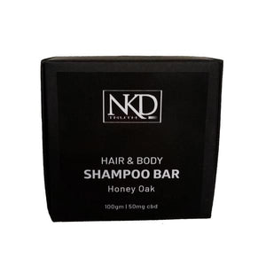 NKD 50mg CBD Speciality Body & Hair Shampoo Bar 100g - Honey Oak