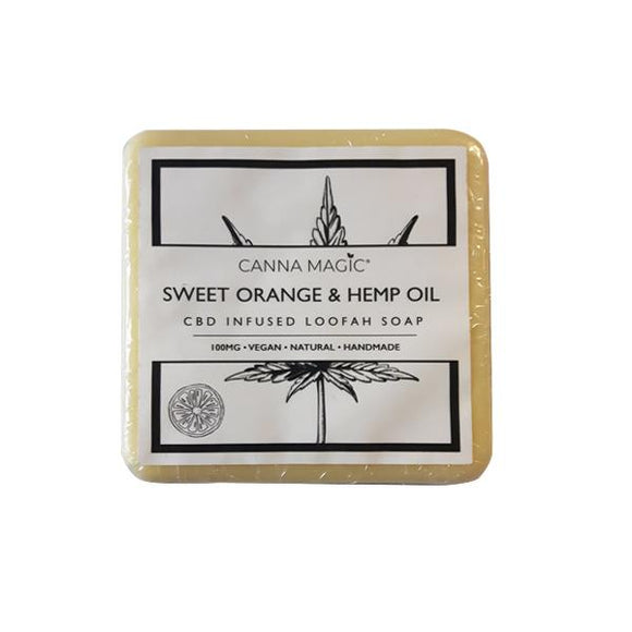 Canna Magic 100mg CBD Sweet Orange & Hemp Oil Soap 145g