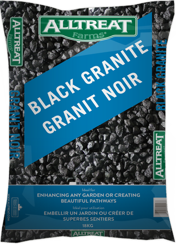 All Treat Black Granite Stone (18KG) - Four Seasons Garden Centre