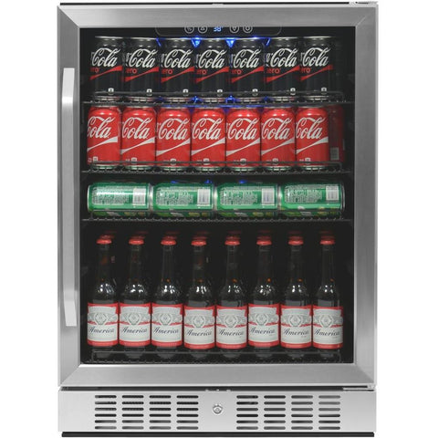 "NewAir 24"" Built-in 177 Can Stainless Steel Beverage Fridge (ABR-1770)"