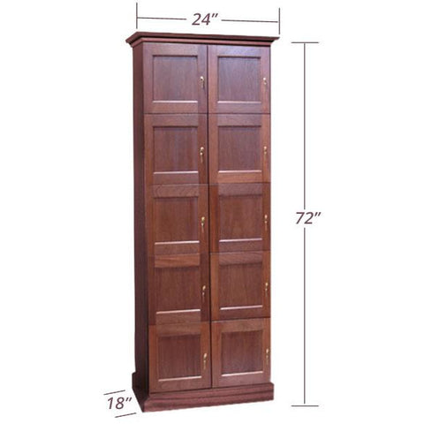 Vigilant 10 Cigar Lockers with Framed and Panel Doors (H-LM-FD10)