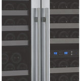 "Allavino 47"" Wide FlexCount II Tru-Vino 249 Bottle Three Zone Stainless Steel Side-by-Side Wine Refrigerator (3Z-VSWR2128-S20)"