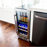 "NewAir 15"" Premium Built-in Dual Zone 9 Bottle and 48 Can Wine and Beverage Fridge (NWB057SS00)"