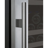 "Allavino 24"" Wide FlexCount II Tru-Vino 177 Bottle Single Zone Stainless Steel Right Hinge Wine Refrigerator (VSWR177-1SR20)"