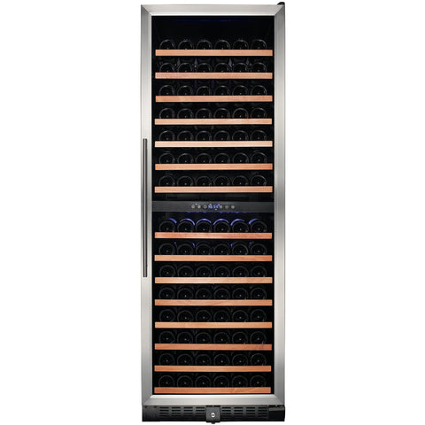 Smith & Hanks 166 Bottle Stainless Dual Zone Wine Cooler (RW428DR)