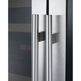"Allavino 47"" Wide FlexCount II Tru-Vino 344 Bottle Four-Zone Stainless Steel Side-by-Side Wine Refrigerator (2X-VSWR172-2S20)"