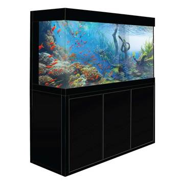Aquadream Black 135 Gallon Glass Fish Tank (JAL-1260-ABK)