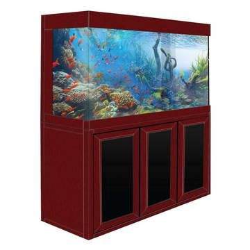 Aquadream Red Wood 135 Gallon Glass Fish Tank (JAL-1260-RW)