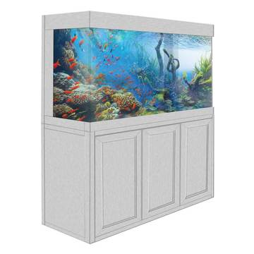 Aquadream White Oak 135 Gallon Glass Fish Tank (JAL-1260-WO)