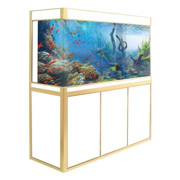 Aquadream White 135 Gallon Glass Fish Tank (JAL-1260-WT)