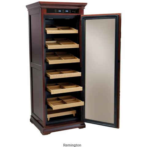 REMINGTON 2000 Ct. Electric Climate/Humidity Controlled Cabinet (Dark Cherry)