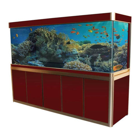 Aquadream Red 360 Gallon Glass Aquarium Fish Tank (JAX-2310-RD)