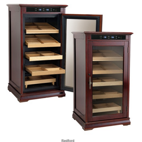 REDFORD 1250 Ct. Electric Climate/Humidity Controlled Cabinet (Dark Cherry)