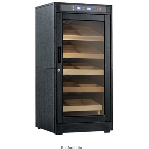 REDFORD LITE 1250 Ct. Electric Climate/Humidity Controlled Cabinet (Black Oak)