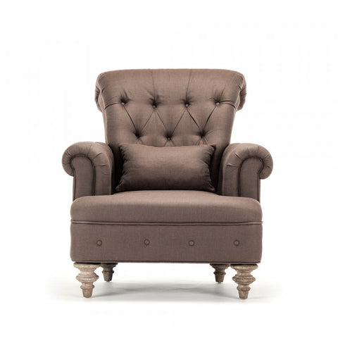 Zentique Yves Tufted Arm Chair (CF007 E272 A008)