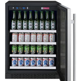 "Allavino 24"" Wide FlexCount II Tru-Vino Stainless Steel Left Hinge Beverage Center (VSBC24-SL20)"