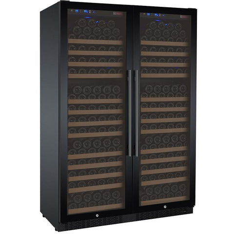 "Allavino 47"" Wide FlexCount II Tru-Vino 354 Bottle Dual Zone Black Side-by-Side Wine Refrigerator (2X-VSWR177-1B20)"