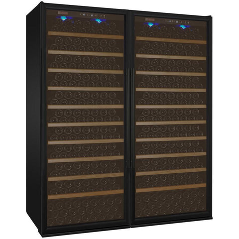 "Allavino 63"" Wide Vite II Tru-Vino 554 Bottle Dual Zone Black Side-by-Side Wine Refrigerator (2X-YHWR305-1B20)"